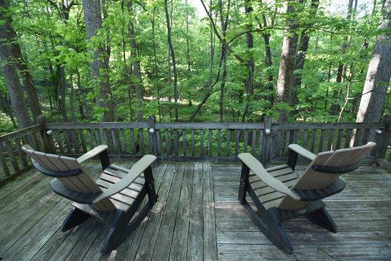 Pilot Mountain, NC: Castle Room private deck