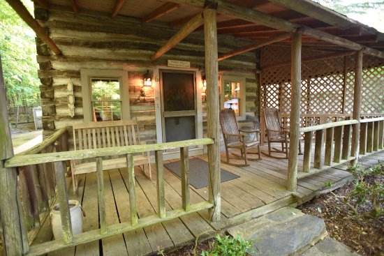 Pilot Mountain, NC: front porch of Yadkin Valley Cabin