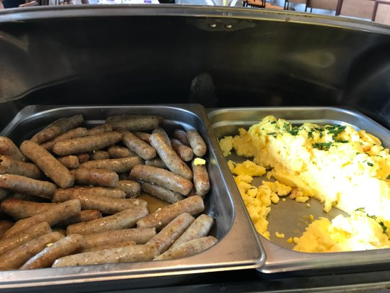 Milton, MA: Scrambled eggs and sausage