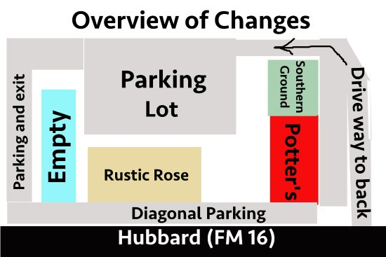 Lindale, TX: We have additional parking in the back.  This map should help you maneuver around our complex.