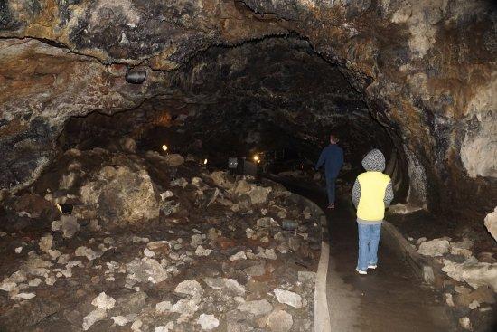 Tulelake, CA: looking along the lava tube