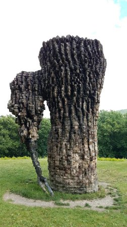 New Windsor, NY: Sculpture outside the museum on the grounds