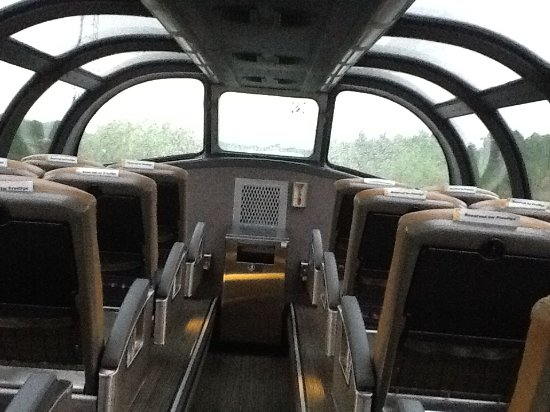 dome at the top of the park car for prestige class passengers picture of via rail canada. Black Bedroom Furniture Sets. Home Design Ideas