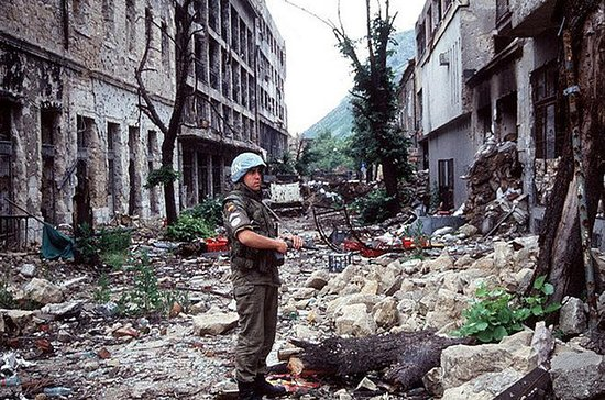 Guerra na excursão a pé de Mostar