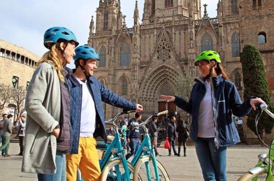 バルセロナを通じた歴史的なバイクツアー