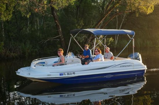 Dekkbåtutleie på Homosassa-elven