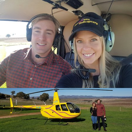 Lyndoch, Australien: Barossa Valley Helicopter! The beautiful Pindarie Winery and a very good looking pilot