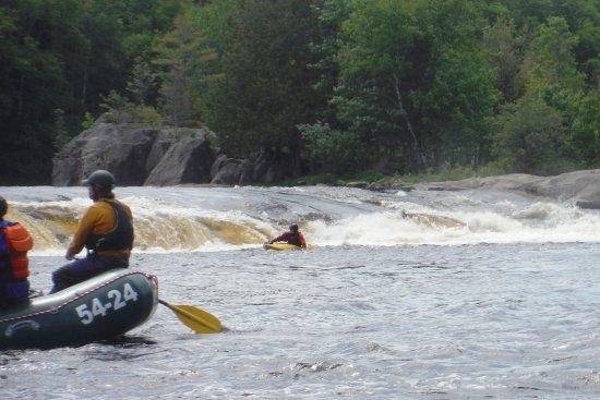 Millinocket, Maine: Our camerman (in the kayak) did a phenomenal job