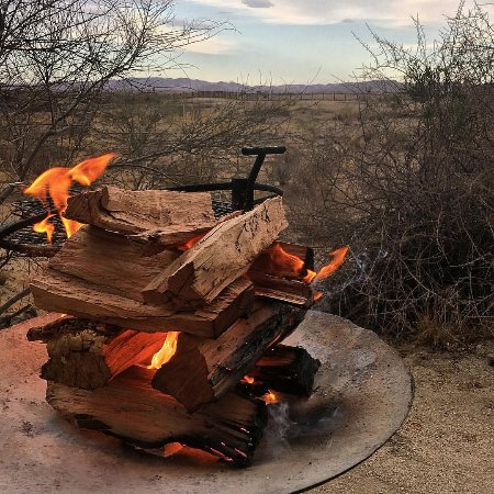 Augrabies Falls National Park, África do Sul: In the evening you braai and enjoy the view.