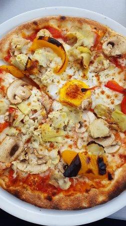 Metzingen, Niemcy: vegetarische Pizza