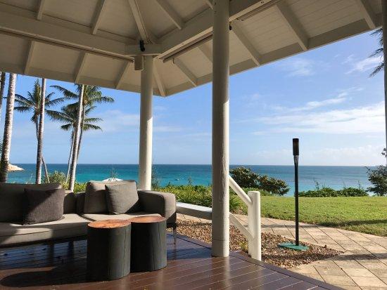 Lizard Island Resort: the welcome area