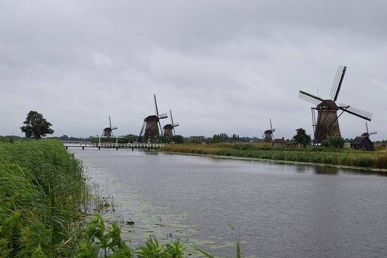 Réseau de moulins de Kinderdijk-Elshout : Strolling in the Kinderdijk park.