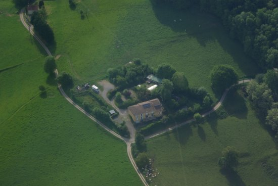 La-Bastide-de-Serou, فرنسا: Lèdre vue d'avion