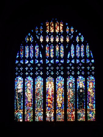 Chester Cathedral: Stained glass window.