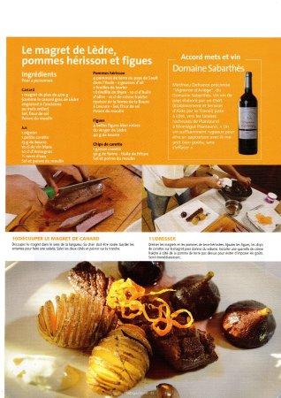 La-Bastide-de-Serou, فرنسا: Notre magret de Lèdre, recette publiée dans le magazine culinaire Midi Gourmand