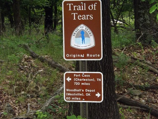 Trail Of Tears marker - Picture of Pea Ridge National