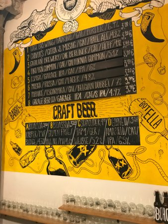 Beer Menu Delicious Picture Of Chivuo S Gracia Slow Street