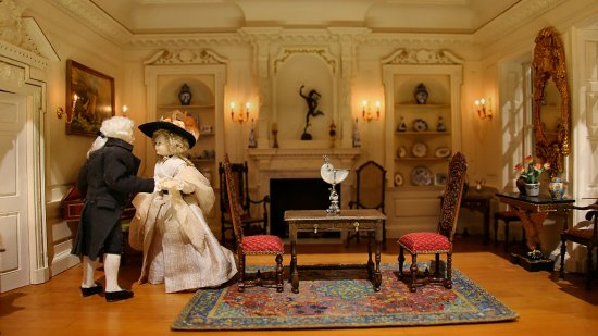 Just one of the dolls house interiors Picture of Newby Hall and