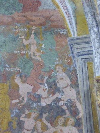L'Aquila, Italie : particolare dell'Inferno