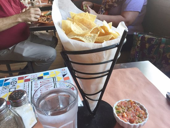Complimentary tortilla chips and salsa - Ole Mole, Stamford CT