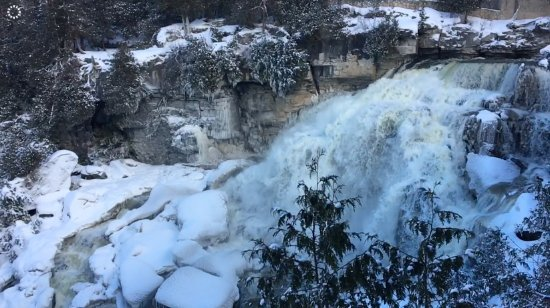 Owen Sound, Kanada: Falls from the view point