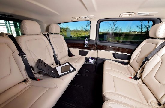 luxury mpv mercedes v class lwb interior conference seating little 39 s. Black Bedroom Furniture Sets. Home Design Ideas