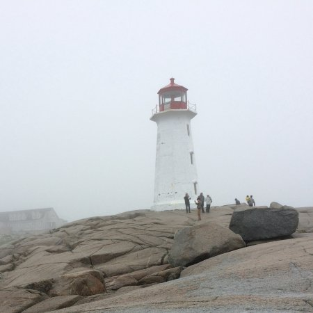 The iconic lighthouse at Peggy's Cove