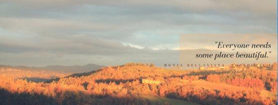 Bossolasco, Italia: la vista dal ristorante e dalle camere
