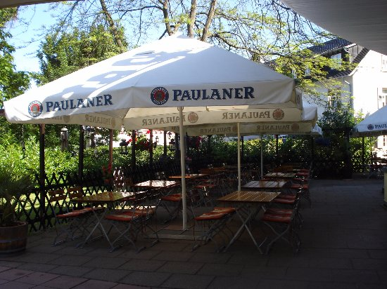 Bensheim, Germany: Beer Garden.