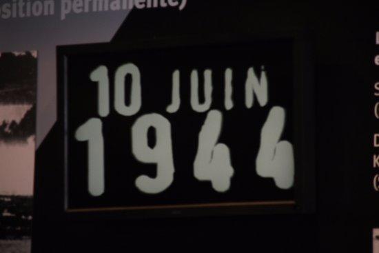 Oradour-sur-Glane old town: de datum om niet te vergeten