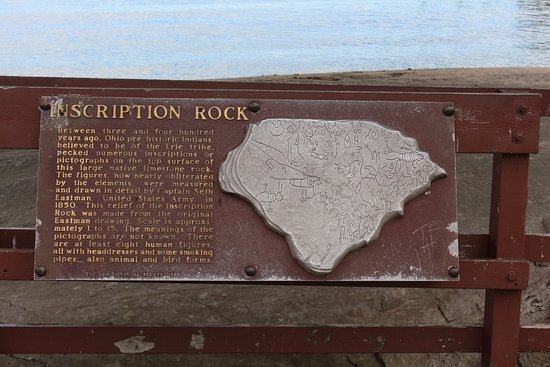 Kelleys Island, OH: Inscription Rock Plaque