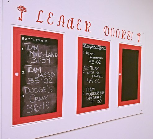 Red Door Escapes Will you earn a spot at top of one of our leader & Will you earn a spot at top of one of our leader doors?!? - Picture ...