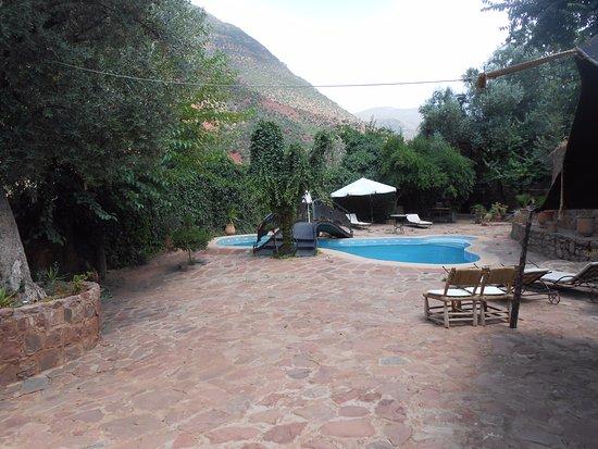 Ourika Garden: terrasse du restaurant chambre d'hote