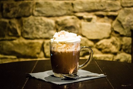 Whalley, UK: Hot Chocolate with Cream and Marsh mellows Dec 2016