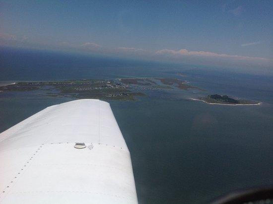 Tangier Island, VA: The island from the air