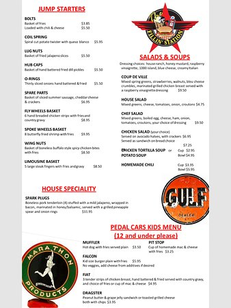 Granbury, TX: 2017 Menu