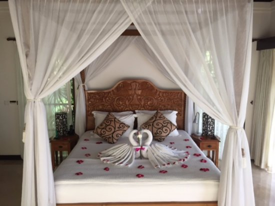 Amori Villas: Honeymoon suite!! The rooms are clean, excellent AC, gorgeous view, mosquito netting :)
