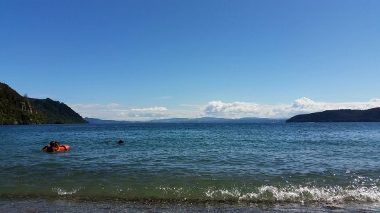 Swim all day this fresh water Lake, Taupo New Zealand.