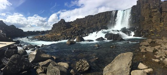 Thingvellir, Iceland: Beautiful waterfall at the park