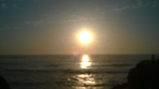 Sao Pedro de Moel, Portugal: Coucher de soleil pris du restaurant