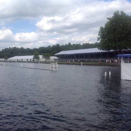 ‪‪Henley-on-Thames‬, UK: Views of the royal regatta being set up and ladies regatta‬