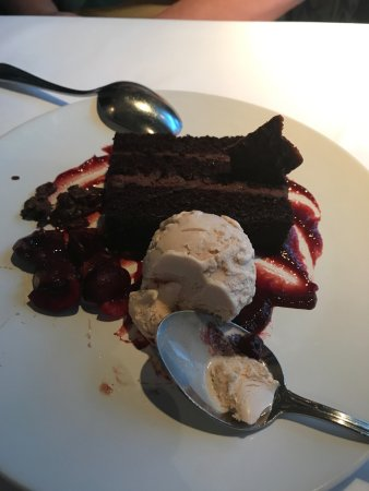 Sweet Life: chocolate cake is mandatory to finish this meal