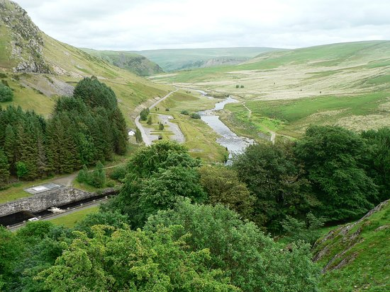 View from the Claewen Dam - Elan Valley