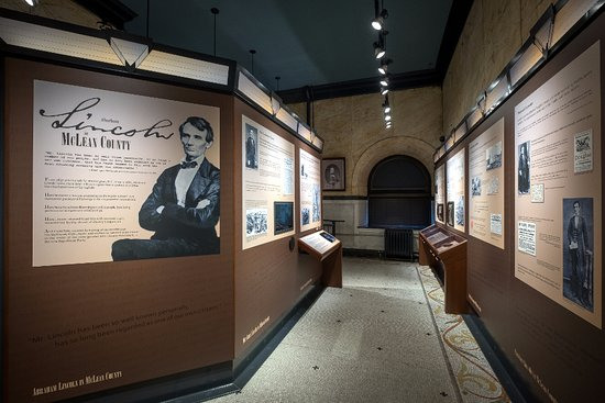 "The exhibit ""Abraham Lincoln in McLean County"" explores Lincoln's strong ties to Bloomington, IL"