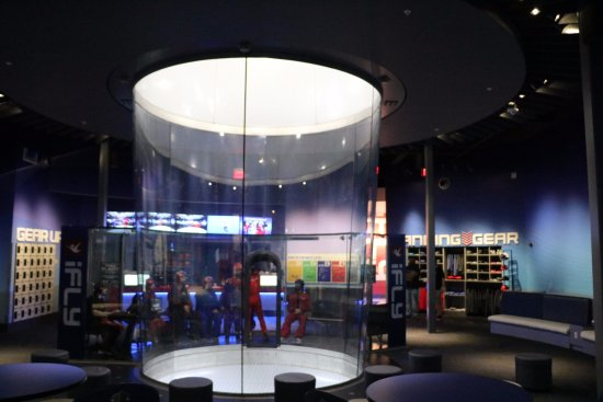 Hurst, TX: Take a look a the interior of the iFLY Fort Worth Tunnel