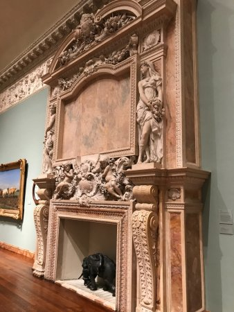 The Ringling: One of many fireplaces