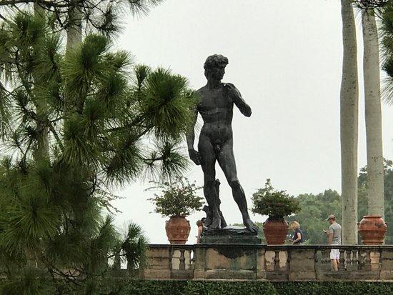 The Ringling: Statue of David on the bridge
