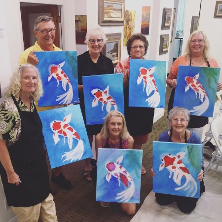 Flagler Beach, FL: Another fun BYOB Paint Party.