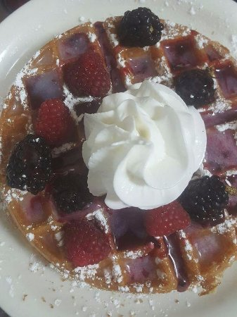 Vernal, UT: Belgium Waffle with Berry Topping