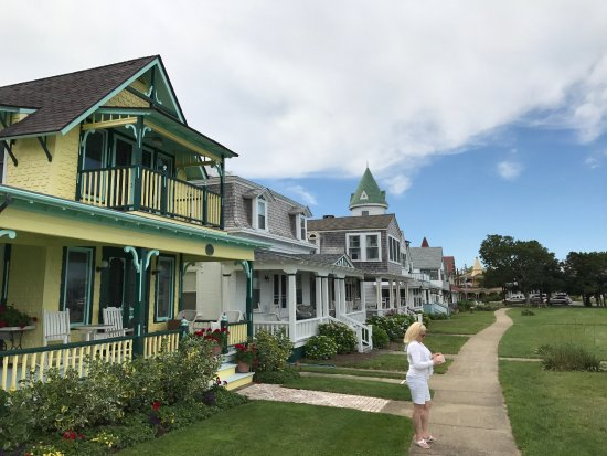 Oak Bluffs, MA: Cottage all in a row at Ocean Park